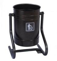 Урна для мусора металлическая уличная 26 литров круглая ножки-профиль Серебр. Антик АГ641 - Интернет-магазин «Строительный двор Морозов»