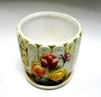 Горшок цветочный ПТИЦЫ-2 керамический с блюдцем ф15мм HS31-02 - Интернет-магазин «Строительный двор Морозов»