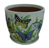 Горшок цветочный ПТИЦЫ-2 керамический с блюдцем ф17мм HS31-02 - Интернет-магазин «Строительный двор Морозов»