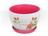 Горшок цветочный ЛЕТО 2 керамический с блюдцем ф26мм 851558 - Интернет-магазин «Строительный двор Морозов»