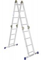 АЛЮМЕТ Лестница шарнирная 4х3ступени алюминиевая 97790 - Интернет-магазин «Строительный двор Морозов»