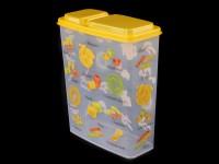 Емкость для сыпучих 2,3л с декором Бытпласт 4312553 236334 - Интернет-магазин «Строительный двор Морозов»