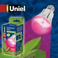 Лампа св/д Uniel для растений А60 Е27 9W (160гр) проз.108х60 IP20 LED-A60-9W/SP/E27/CL - Интернет-магазин «Строительный двор Морозов»