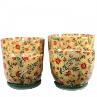 Горшок цветочный САМУИ керамический с блюдцем 30х22 Т32-01 - Интернет-магазин «Строительный двор Морозов»