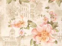 Обои винил на бумажной основе 0,53х10м В49.4 5599-02 Римма персик цветок на беж пейзаже Славянские - Интернет-магазин «Строительный двор Морозов»