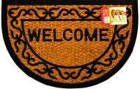 КОКОС Коврик на резиновой подложке 40х60см полукруглый Welcome 511243 - Интернет-магазин «Строительный двор Морозов»