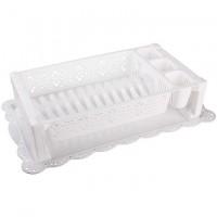 Сушилка для посуды Кружево белый М6283 - Интернет-магазин «Строительный двор Морозов»