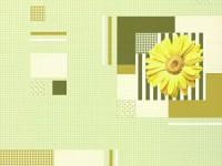 Обои винил на бумажной основе 0,53х10м В49.4 5616-04 Герберы зеленая на зеленом Славянские - Интернет-магазин «Строительный двор Морозов»