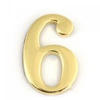 АПЕКС Номер квартирный самокл. золото метал. Apecs GP №6 DN-01-6-Z-G - Интернет-магазин «Строительный двор Морозов»