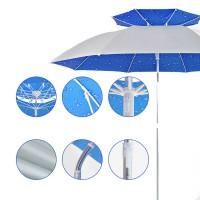 Зонт пляжный КАПЛЯ на колышке 100 - Интернет-магазин «Строительный двор Морозов»