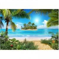 Фотообои 291х204см Тропический пляж ЛЮКС 050941 - Интернет-магазин «Строительный двор Морозов»