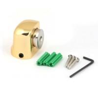 АПЕКС Упор дверной DS-2751-M-G магнитный Напольный золото НЦ76 - Интернет-магазин «Строительный двор Морозов»