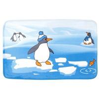 Коврик для ванной комнаты 50х80см Print Пингвины БИ570 512288 - Интернет-магазин «Строительный двор Морозов»