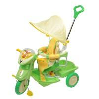 Велосипед 506-1 3х колесный (ручка, тент, подставка д/ног) - Интернет-магазин «Строительный двор Морозов»
