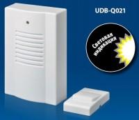 Звонок беспроводной 30м 16мелодии индикатор белый VOLPE UDB-Q021 W-R1T1-16S-30M-WH 556757 - Интернет-магазин «Строительный двор Морозов»