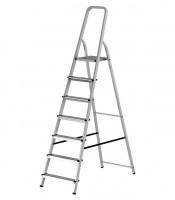 КРОФТ Стремянка алюминевая KROFT 7 ступеней 603007 - Интернет-магазин «Строительный двор Морозов»