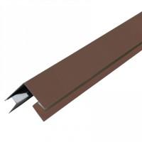Планка угла наруж. сложная металл. (шоколад RAL 8017) 75х75х3000 0284695 - Интернет-магазин «Строительный двор Морозов»