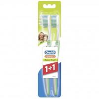 ORAL-B Зубная щетка 3 Effect Натуральная свежесть40 средняя 1+1шт беспл 81466210 022808 - Интернет-магазин «Строительный двор Морозов»