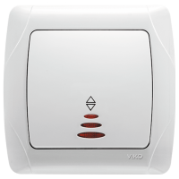 ВИКО Выключатель 1кл белый с подсветкой Vi-Ko 90552019 - Интернет-магазин «Строительный двор Морозов»