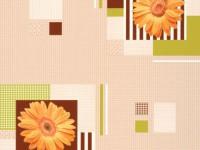 Обои винил на бумажной основе 0,53х10м В49.4 5616-02 Герберы оранжевая на бежевом Славянские - Интернет-магазин «Строительный двор Морозов»