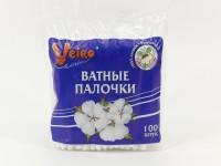 Ватные палочки Linia Veiro 100шт в пакете 450953 - Интернет-магазин «Строительный двор Морозов»