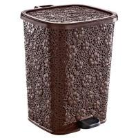 Контейнер для мусора с педалью 26л Дунья ажурное 01154 681523 - Интернет-магазин «Строительный двор Морозов»