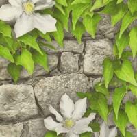 Обои бумажные водостойкие 0,53х10м С1БР-ГП Комфорт Клематис-3 белые цветы Брянск - Интернет-магазин «Строительный двор Морозов»