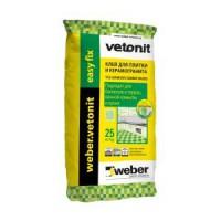 ВЕТОНИТ Клей д/плитки  Weber VETONIT Изи Фикс 25,0 кг - Интернет-магазин «Строительный двор Морозов»