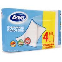 Полотенце бумажное ZEWA 2-х слойное 4 шт 422231 024303 - Интернет-магазин «Строительный двор Морозов»