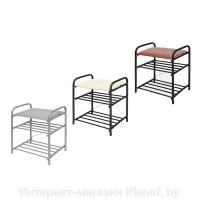 Банкетка Б1 500х330х450мм с мягким сиденьем черная 511274 - Интернет-магазин «Строительный двор Морозов»
