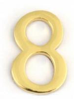 АПЕКС Номер квартирный самокл. золото метал. Apecs GP №8 DN-01-8-Z-G - Интернет-магазин «Строительный двор Морозов»