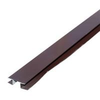 Планка стыковочная сложная металл. (шоколад RAL 8017) 75х3000 0284693 - Интернет-магазин «Строительный двор Морозов»