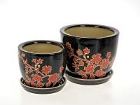 Горшок цветочный РУБИ керамический с блюдцем ф18мм J121-03 - Интернет-магазин «Строительный двор Морозов»