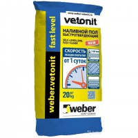 ВЕТОНИТ Ровнитель для пола цементный Vetonit fast level (3-60мм) 25,0кг - Интернет-магазин «Строительный двор Морозов»