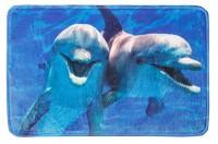 Коврик для ванной комнаты 50х80см Print Дельфины БИ567 634229 - Интернет-магазин «Строительный двор Морозов»