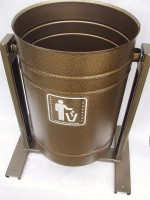 Урна для мусора металлическая уличная 26 литров круглая ножки-профиль Бронз. Антик АВ262 - Интернет-магазин «Строительный двор Морозов»