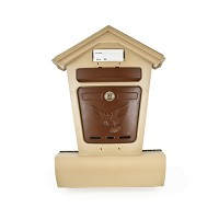 Ящик почтовый пластик Элит бежевый с коричневым г.Ковров П4853 366866 - Интернет-магазин «Строительный двор Морозов»