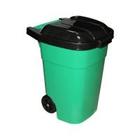 Контейнер для мусора 120л с откидной крышкой на колесах Зеленый М4603 АЛЬТЕРНАТИВА АД856 - Интернет-магазин «Строительный двор Морозов»