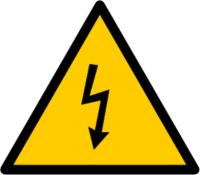 Знак безопасности Молния 85х85х85 треугольник - Интернет-магазин «Строительный двор Морозов»