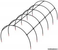 ВЕСЕННЕЕ ЧУДО Мини-каркас парника 6 секций 3,1х0,6х0,6м - Интернет-магазин «Строительный двор Морозов»