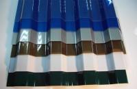 Поликарбонат кровельный Монолитный  трапеция 1,05х2м 0,8мм СИНИЙ 000604 - Интернет-магазин «Строительный двор Морозов»