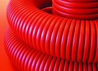 ДКС Труба гибкая двустенная 110мм для кабельной канализации КРАСНАЯ 1метр (бухта 50/100м) - Интернет-магазин «Строительный двор Морозов»