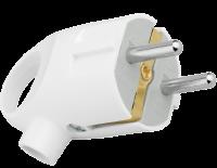 EKF Вилка с кольцом с/з белая 16А 250В AVK16-10 010786 458351 - Интернет-магазин «Строительный двор Морозов»