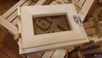 БАННЫЙ ЭКСПЕРТ Форточка для бани деревянная со стеклопакетом 600х600мм с фурнитурой  - Интернет-магазин «Строительный двор Морозов»